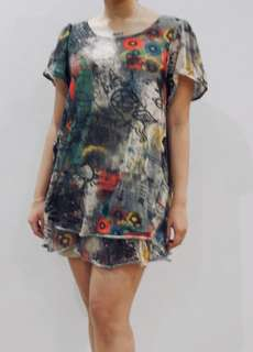 Abstrak mini dress