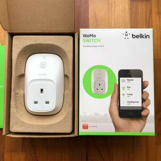 Belkin WeMo Switch Wifi Smart Plug UK Socket