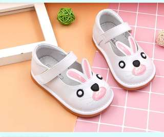 Baby Girl Bunny Soft Leather Shoes