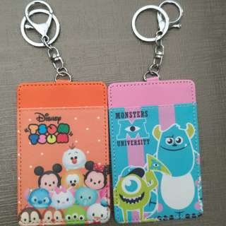 Tsum Tsum N Monsters University Card Holder with Keychain
