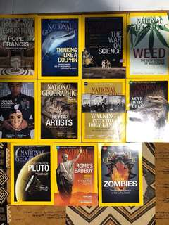 11 National Geographic Magazines