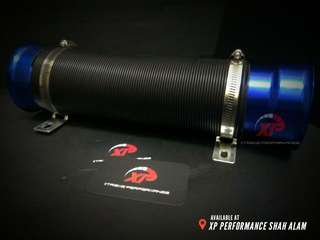 COLD AIR INTAKE FELXIBLE air filter universal Blue Color