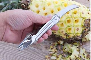 2 in 1 stainless steel pineapple & fruit peeler