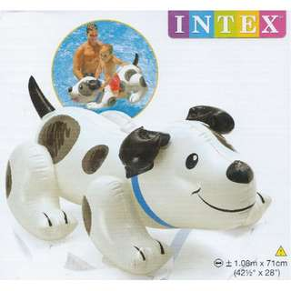 🚚 (Free Delivery) Intex Puppy Dog Animal Ride On Inflatable Swimming Float