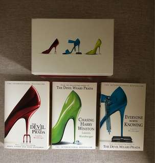 Gift Set (3 books) The Devil Wears Prada,Everyone Worth Knowing & Chasing Harry Winston