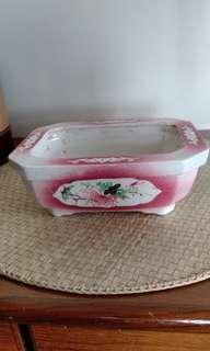 六,七年代手繪水仙花盆