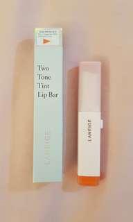 🚚 Laneige Two Tone Lip Bar No. 2(Tangerine Slice)