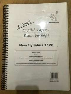 O level english paper exam package