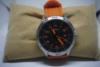Jam tangan fossil strap orange