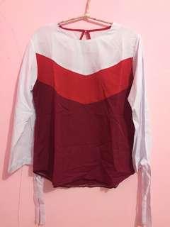 Pinkish white top
