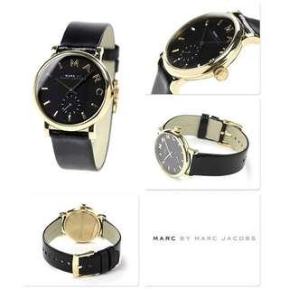 Marc By Marc Jacobs MBM1273 Women's Baker Black Dial Quartz Watch (Black/Gold)