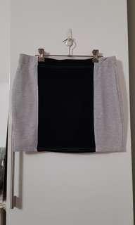 🚚 Black Grey Bandage Skirt