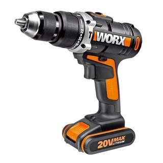 WORX WX372 Cordless 20v PowerShare Drill, Hammer Drill, Screwdriver
