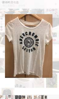 🚚 Abercrombie & Fitch a&f 短踢上衣 二手