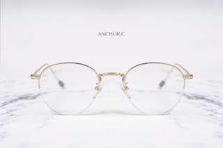 日韓手造半框金屬架眼鏡