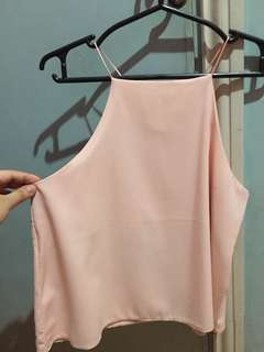 Peach Chiffon Sleeveless