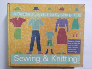 Readers digest step-by-step guide to sewing and knitting