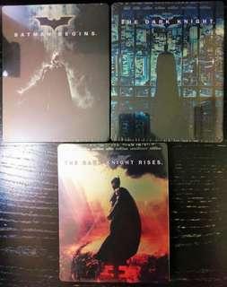 🌟罕見🌟日版鐵盒 Blu-ray Batman三部曲(1-3集)