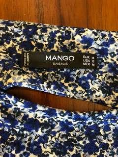 🚚 Mango 彈性挖背花洋裝