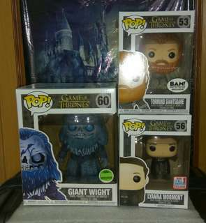 "[PRE-ORDER] Giant Wight 6"", Tormund Giantsbane Snowy & Lyanna Mormont Game of Thrones Funko Pop Bundle"