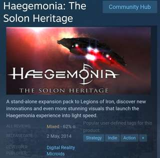[Clearance Sale] Steam - Haegemonia: The Solon Heritage Game