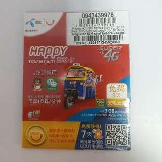 Happy 8天泰國旅遊卡