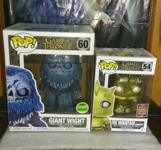 [PRE-ORDER] Giant Wight & The Mountain Armoured Game of Thrones Funko Pop Bundle