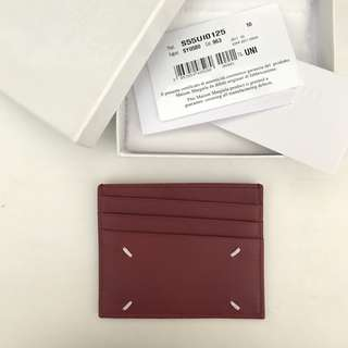 Maison Margiela red leather card holder