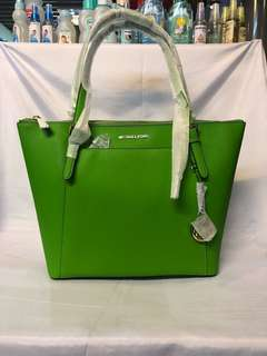Michael kors ciara jungle green tote