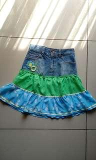 Rok Jeans Denim Size 10 Anak Mini Skirt