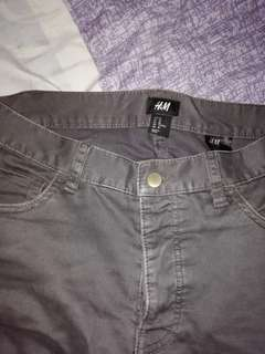 H&M stretch jeans grey slim fit size 28