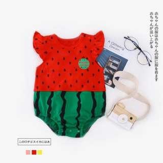 🚚 Super Lovely Watermelon Style Short-sleeve Romper for Baby_Unisex (0-24 months) CS016R