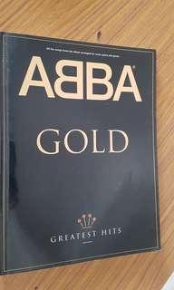 ABBA greatest hits music score book