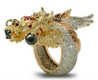 Custom dragon ring