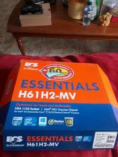 motherboard/mobo Ecs h61h2-mv-essentials-lga-1155