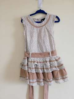 Periwinkle Dress with Ruffle Skirt 2Y