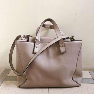 H&M : Pink Nude Multi Bag (sling & shoulder)