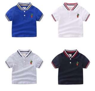 Boys short-sleeved cotton shirt
