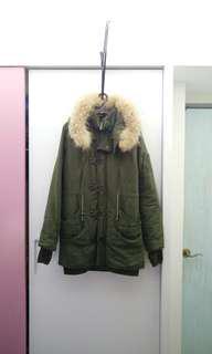 SLYN3B軍綠色長版外套