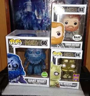 "Giant Wight 6"", Tormund Giantsbane Snowy & The Mountain Armoured Game of Thrones Funko Pop Bundle"