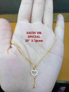 18k Gold With Diamond Necklace