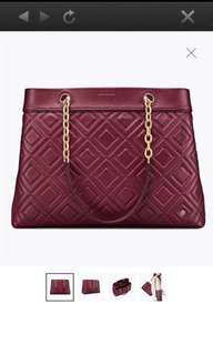 #In Stock# Tory Burch Fleming Tote Maroon