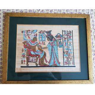 Framed Egyptian painting