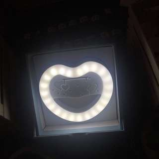 Rechargeable Selfie Light (Heart Shape)
