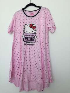 Peter Alexander Hello Kitty Pajama T Shirt Night Dress Gown