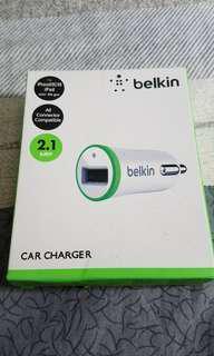 Belkin 汽車隱藏式USB充電器(保養已過 包平郵)
