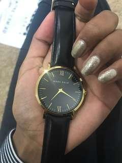 Marc Bale black Gold Watch