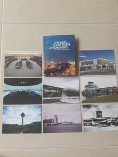 Limited edition Singapore Aviation landmarks Post cards