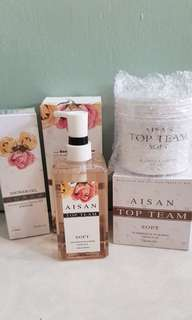 Aisan Top Team Shampoo & Hair Mask Free Aisan Showel Gel