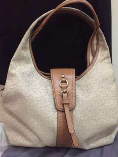 DKNY Signature Canvas Hobo Bag